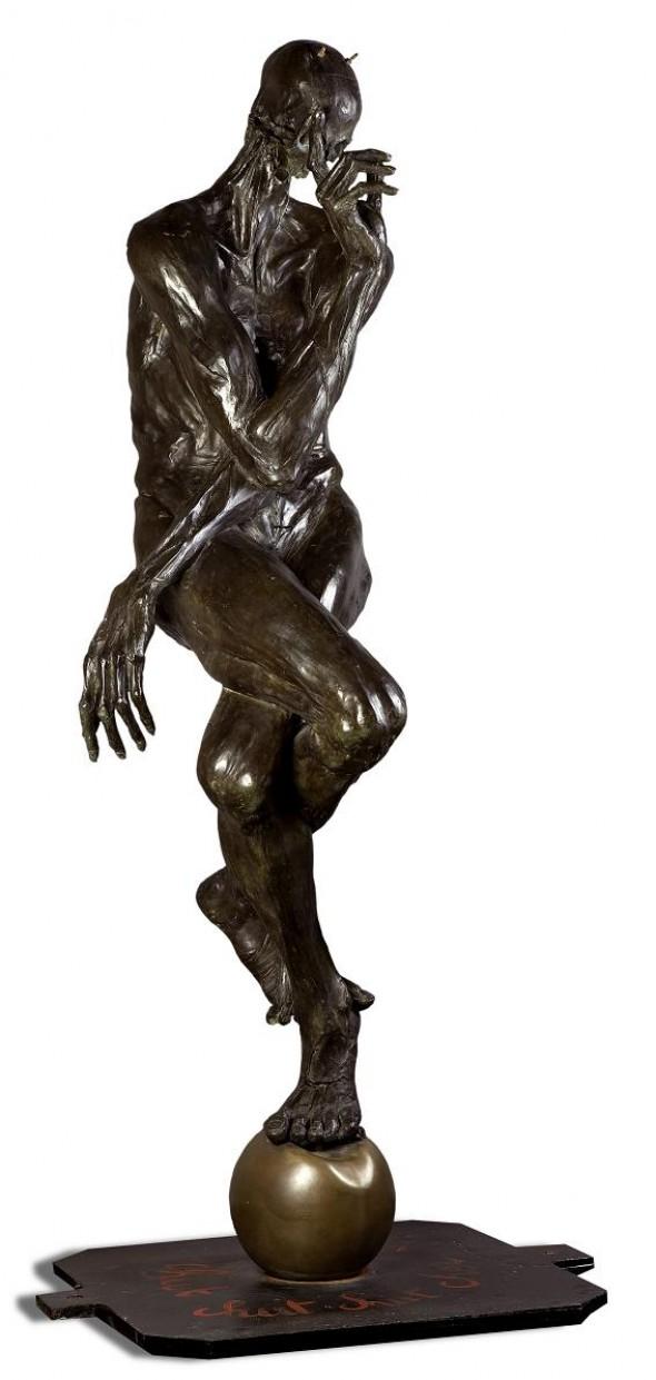 Chut Chut Cher Daniel Bronze, 173x50*50cm, 2001