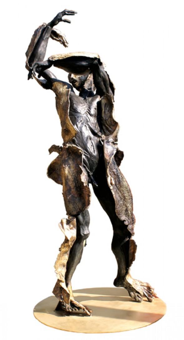 La Vanite mise a Nue par ses Thuriferes Bronze, 220*75cm, 2009/2010