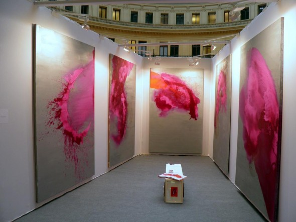 oil, pigments and mixed media on canvas,