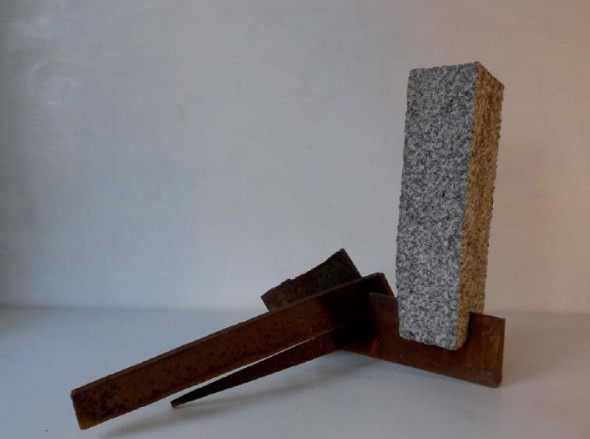 Morgen Granit, Stahl, 50 39 62 cm, 2011
