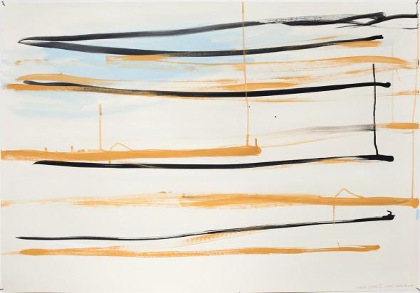 Syria_Lines II Aquarell und Gouache auf Papier 70x100cm, 2013