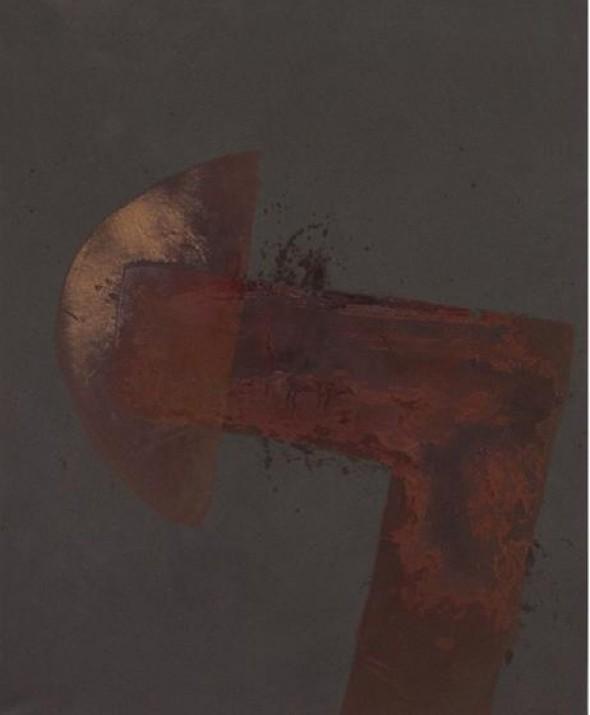 Wasser auf pulverisierten Eisen 160x130cm, 2012
