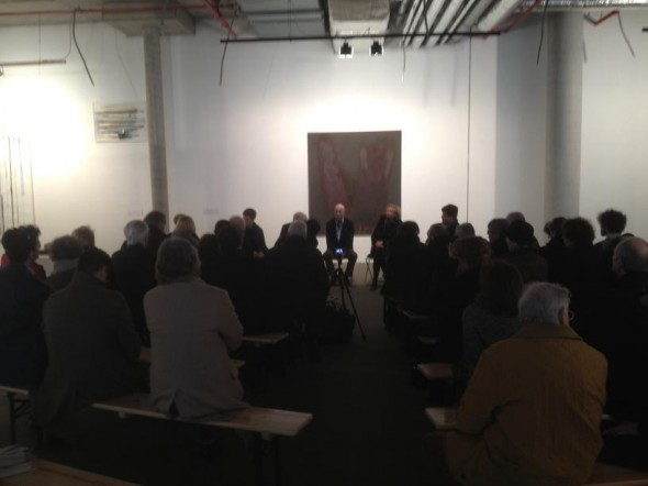 Talk between Rudolf zur Lippe, Reinhard Kahl and the artists