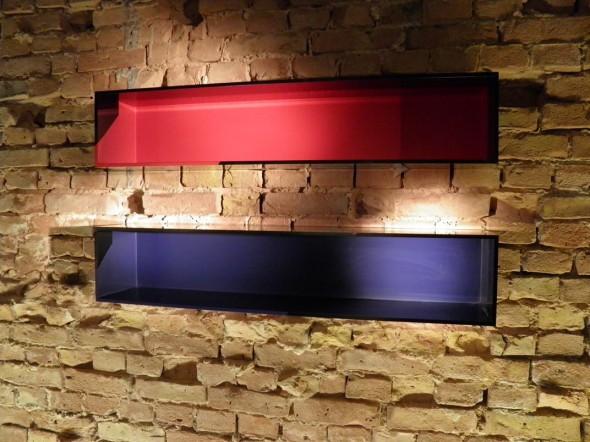 Kunststoff Gußboxen Rot, Blau 20x100x20cm, 2013
