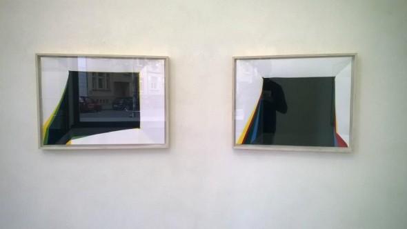 Paperpools Kunstharz auf Fabriano gefaltet/entfaltet 50x70cm, 2014