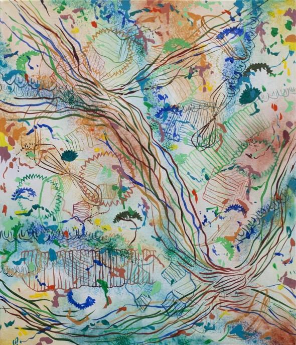 Recorreguts V, 2014 100x80cm, tècnica mixta sobre tela