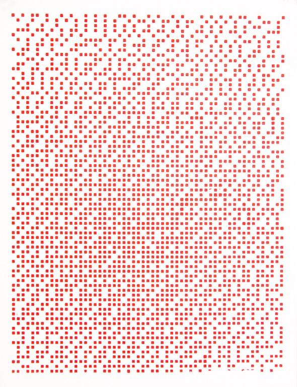 Warmes Rot Siebdruck auf Papier, 50 x 65 cm, 2014 Edition: je 10  + 1 Artist Print
