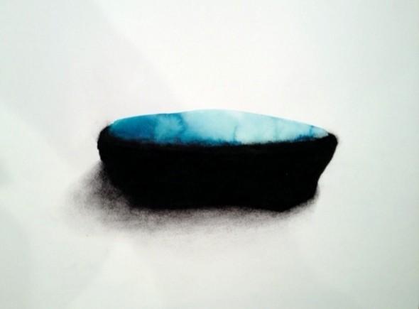 Aquarell und schwarze Erde auf Papier, 30x40cm, 2012