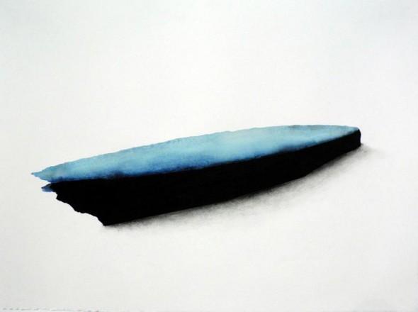Aquarell und schwarze Erde auf Papier, 57x77cm, 2012