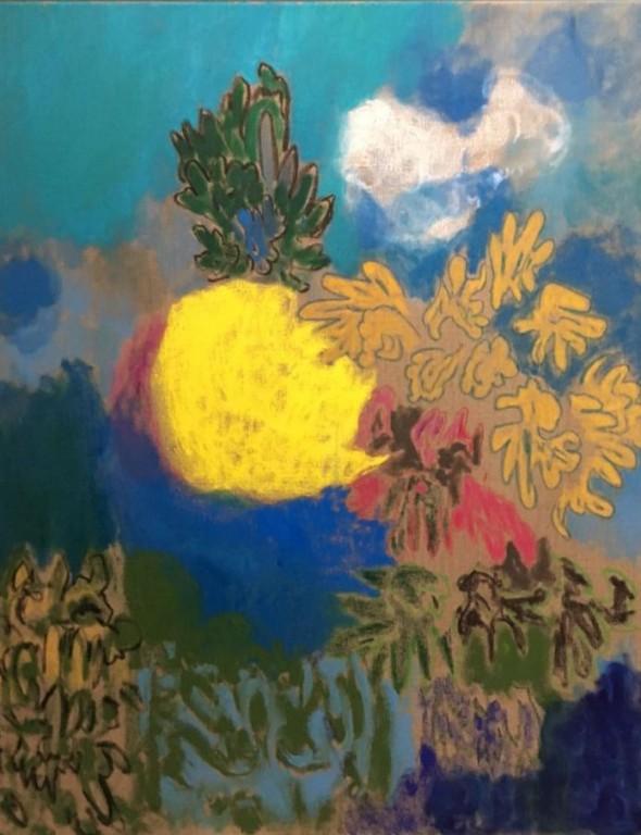 Jardin Majorelle Das ist der Frühling I Öl und Pastell auf Leinwand 100 x 80 cm, 2016