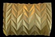 Zylindre folded goldfoil, ca. 20*30 cm, 2009
