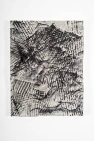 Das nervöse Hemd 64 cm x 49 cm Leder und Samt auf Acryl, 2015