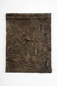 Erinnerungen an meinen alten serbischen Freund 65 cm x 49,5 cm Leder und Acryl auf Leinwand, 2015