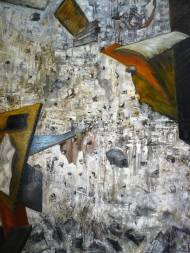 Crash(2009) Öl auf Leinwand, 175 cm * 130 cm