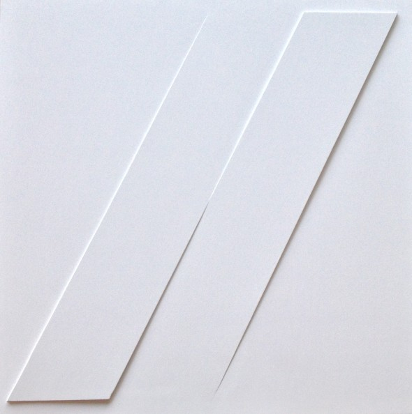 Rilievo 1977 estroflessioni e acrilico su tavola, cm. 50x50.JPG