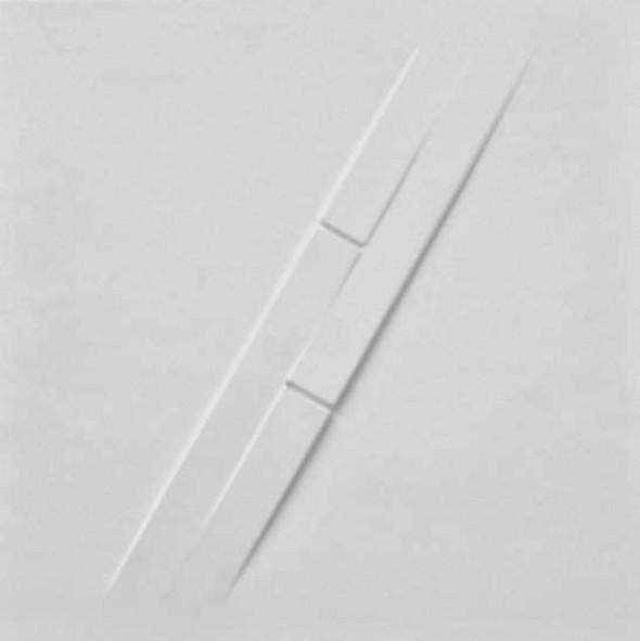 Rilievo, 1974 estroflessioni e acrilico su tavola, cm. 50x50cm