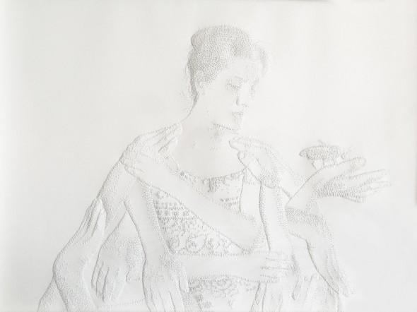 Selfguard Perforated paper, 32,5 x 46 cm, 2011