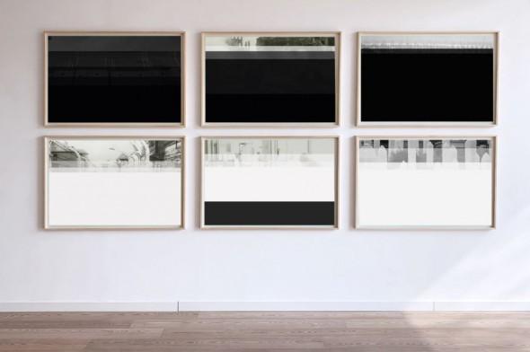 Rainer Splitt Getauchte SW-Photos Acrylharz auf Aluminium, 50x70cm, 2019
