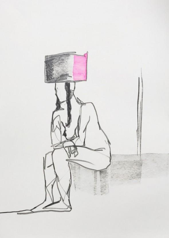 Navot Miller JEW Zeichnung, Bleistift & Marker 59,4x42cm, 2017