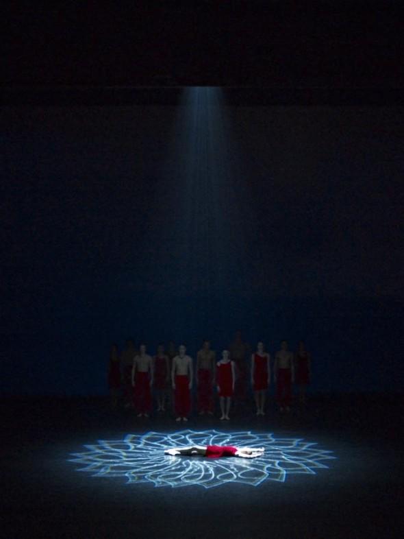 Hugo Dalton Flower_Spot Tanzgruppe Morphoses mit Lichtprojektionen von Hugo Dalton Photoprint 46,5cm*34,5cm, 1/3, 2009 signiert