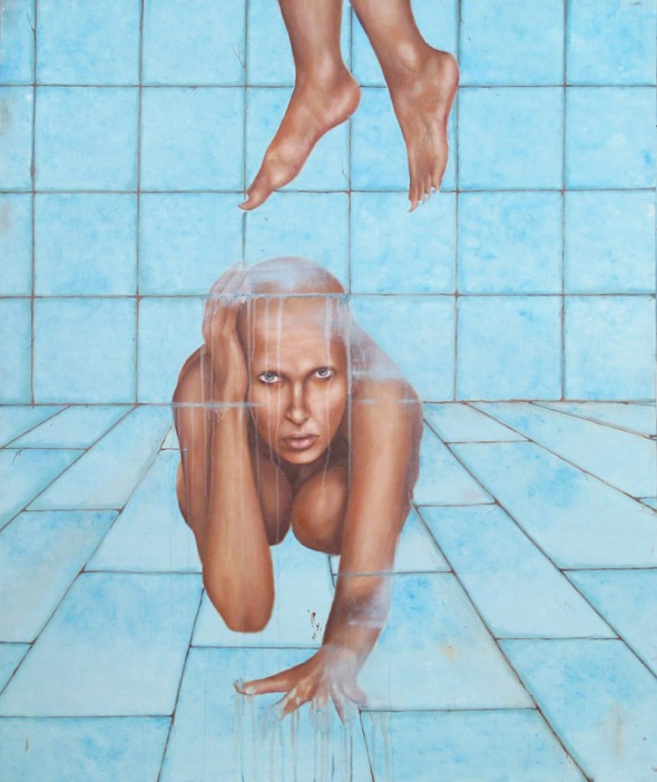 Nikoo Tarkhani From the series This is not a woman,  oil on canvas, 120cm*100cm, 2008