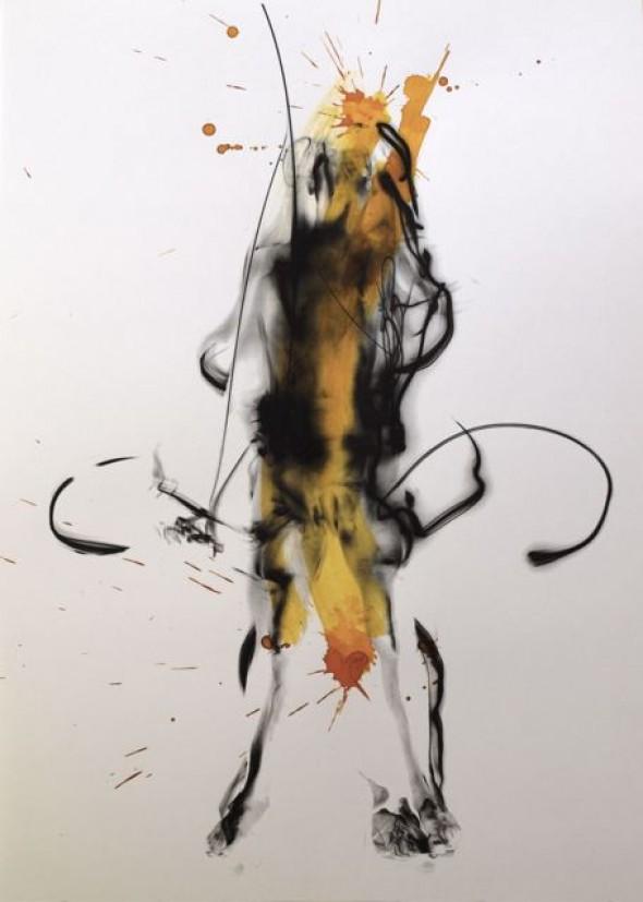 Robert Flynt & Nicolas Spinosa untitled / sin nombre  aus der Serie [:tandem] unique inkjet print with mixed media, 42cm*30cm, 2010