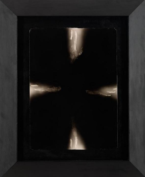 Nel segno della croce Mixed technique on carton, 120x100cm, 2010