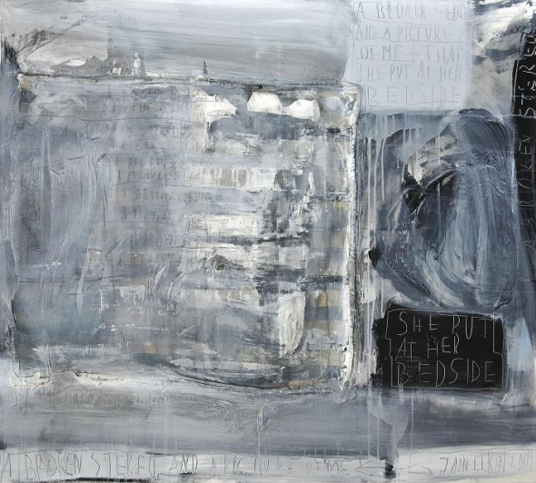 A broken stereo Acrylic and collage on canvas, 135x150cm, 2009