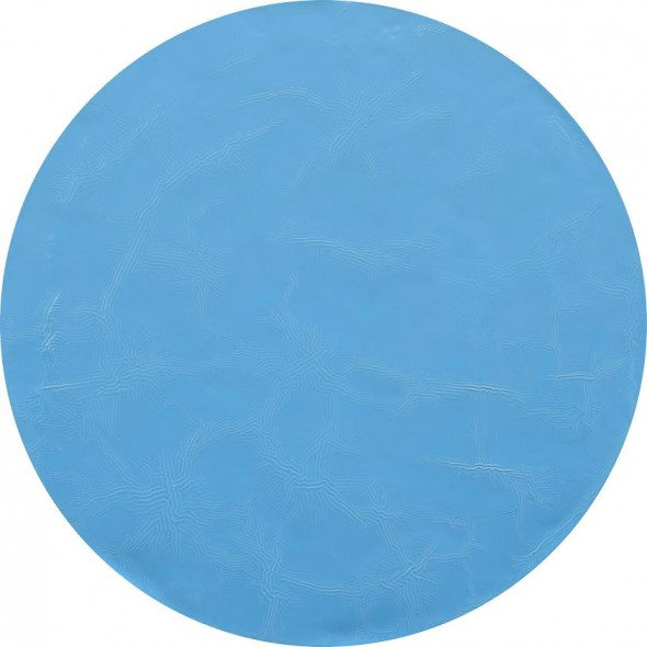 Baby Blue Interconnections householdpaint on canvas,  Ø 80 cm, 2012