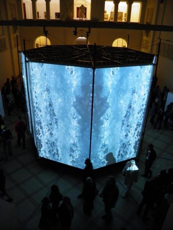 Motohiko Odani Inferno video and sound installation at Mediations Biennale