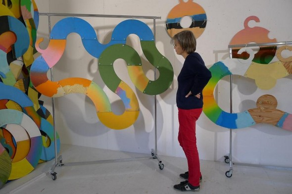"Enno Hallek ""Psychorealistic Fractal"" acrylic on wood, dim.var., 2013"