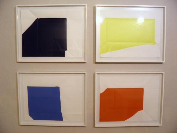 Rainer Splitt Paperpools Kunstharz auf Fabriano, gefaltet/entfalte, 65x70cm, 2012-13