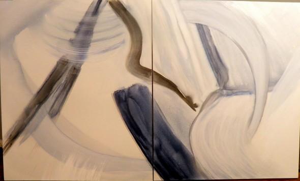 Pascual Jordan ohne Titel Öl und Wasserfarbe auf Leinwand,120x100cm, 2013