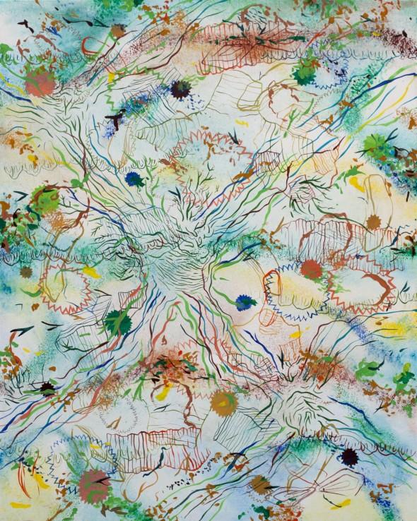 Anais Senli Recorreguts III, 2014 100x80cm, tècnica mixta sobre tela