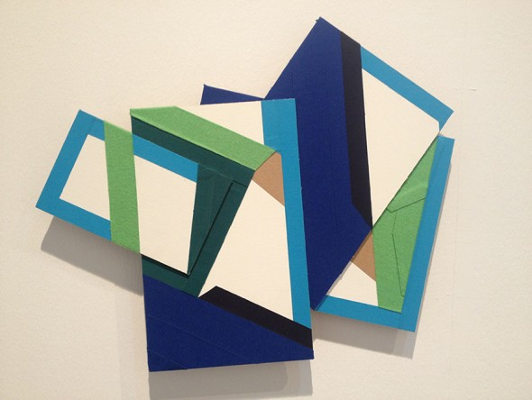 Miren Doiz S. T. Serie No painting, 2013 cinta adhesiva sobre tablillas enteladas 65x75 aprox.