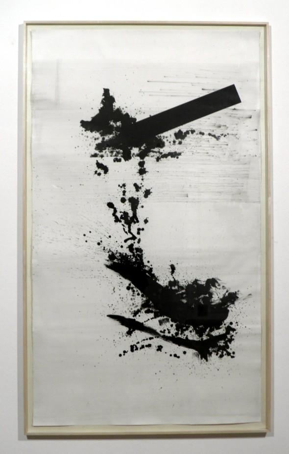 Rudolf zur Lippe Tanikawa #3 Chinatusche auf Papier, 200x152cm, 2014