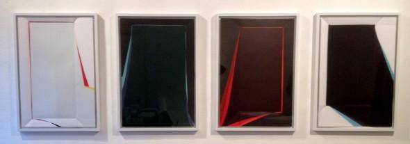 Rainer Splitt  4 Paperpools Arcyl auf Fabriano, 100x70cm, 2015