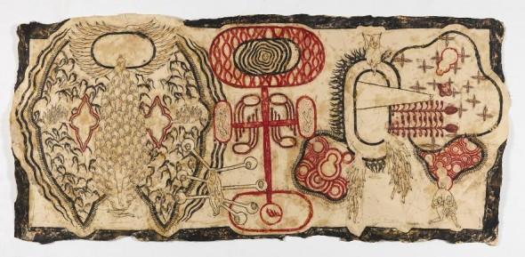 Scuotere le forme 2012 Mischtechnik auf Zeichenpapier, 127x275cm