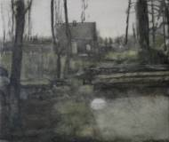 Cabin for time oil on canvas, 70,5x84 cm, 2014