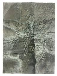 Hannu Prinz o.T. 148 cm x 108 cm Rappenfell und Acryl auf Leinwand