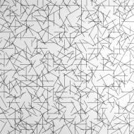 Linee  1980  inchiostro su tela ad acrilico bianco applicato su tavola, 80x80cm