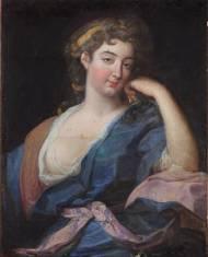 Portrait  (Prinzessin Pelegie Potocka ?) Öl auf Leinwand 79cm x 63cm, zweite Hälfte 18.Jahrhundert, Rahmen 18. Jahrhundert.