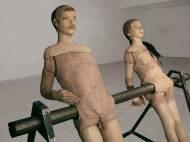Narmine Sadeg Balancing Figures Man & Woman Mixed technique – steel, wood, plaster, fabric and wax. ca.150cm*100cm*150cm, 2009