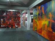 Ter Hell Arabische Nacht und Apache I, Arcly auf Leinwand, 280*240cm, 2004