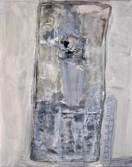 Poem for mattress III acrylic and collage on canvas, 200x160cm, 2008