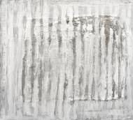 The last poem for mattress Acrylic and collage on canvas, 135x150cm, 2012