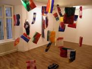 Installationview Requiem Flags and resin, 2012