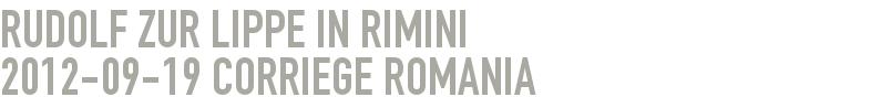 Rudolf zur Lippe in Rimini 2012-09-19 - Corriege Romania