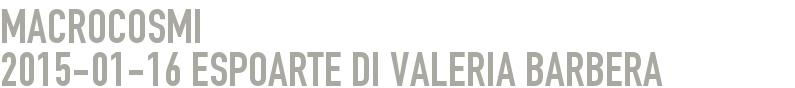 MACROCOSMI 2015-01-16 - ESPOARTE di Valeria Barbera